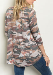 Camo Skull Knotted Long Sleeve