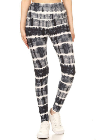 Charcoal Tie Dye Yoga Leggings