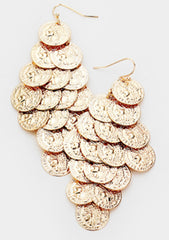 Coin Vine Dangle Earrings