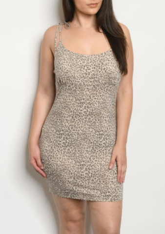 Plus Cheetah Dress