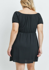 Curve Black Off the Shoulder Dress