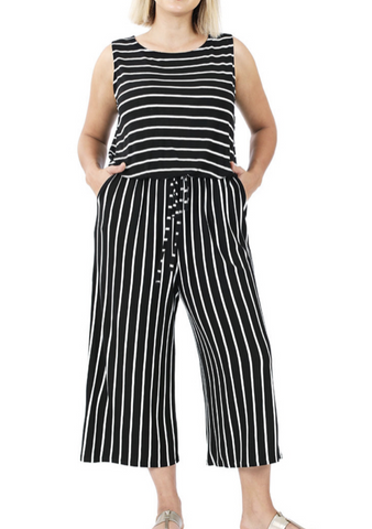Curve Striped Jumpsuit