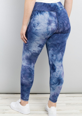 Curve Navy Tie Dye Leggings