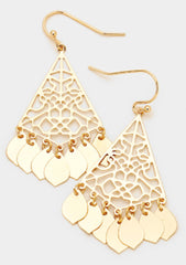 Disc Fringe Dangle Earrings