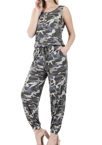 Dusty Camo Jumpsuit