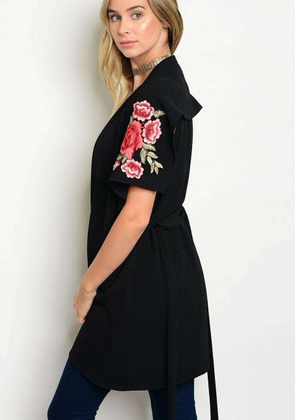 Floral Patch Cardigan