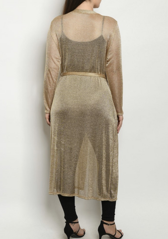 Gold Sheer Curve Duster