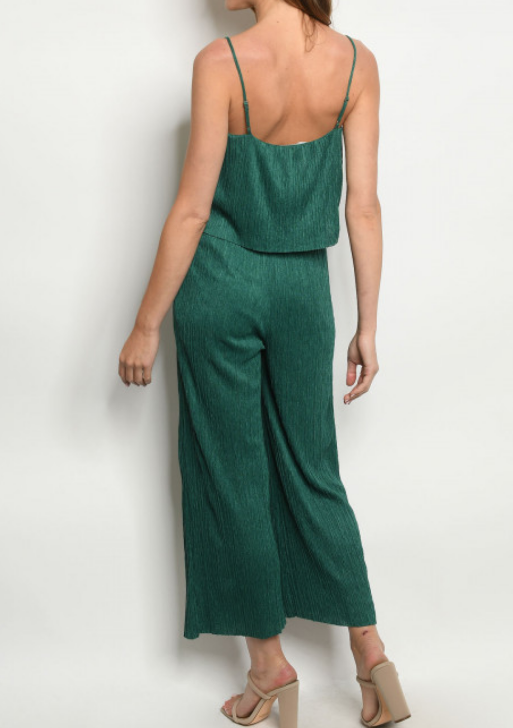 Green Layered Jumpsuit