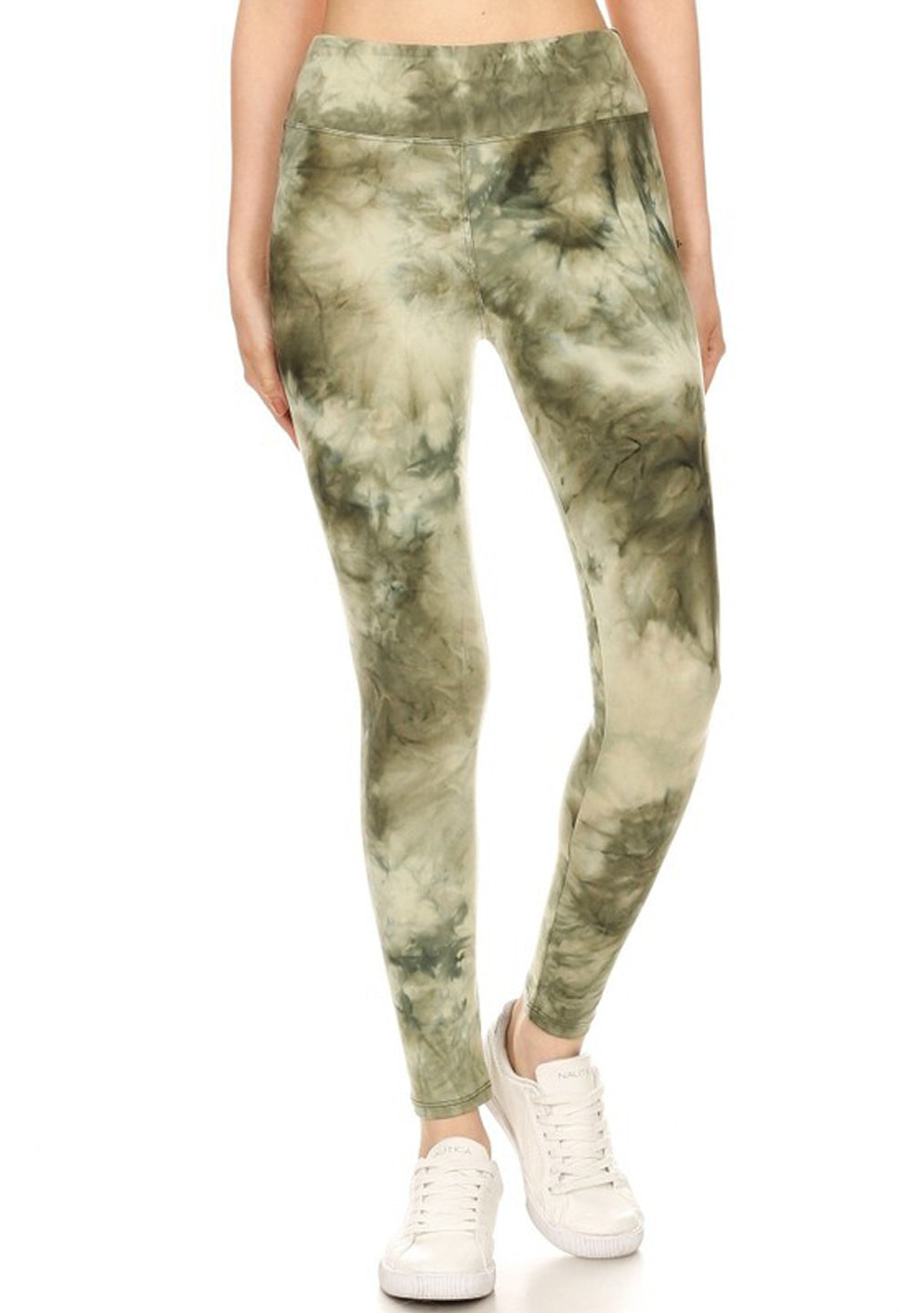 Green Tie Dye Yoga Leggings