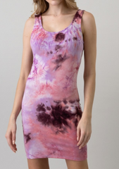 Lavender Tie Dye Dress