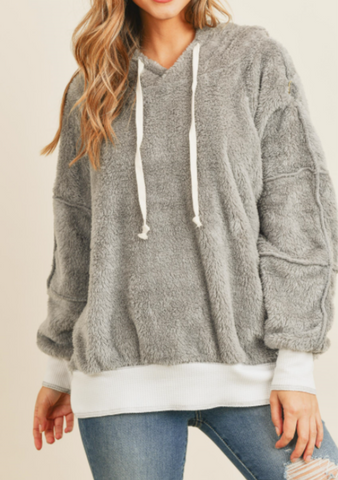Oversized Gray Soft Sweatshirt