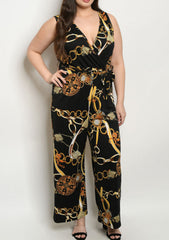 Black Chain Plus Jumpsuit