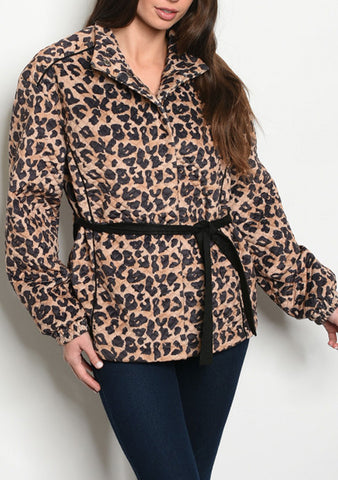 Quilted Leopard Jacket