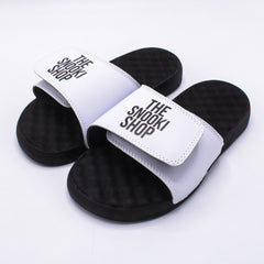 The Snooki Shop Sandals - White on Black