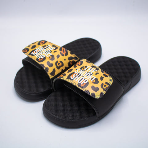 The Snooki Shop Sandals -White on Brown Leopard