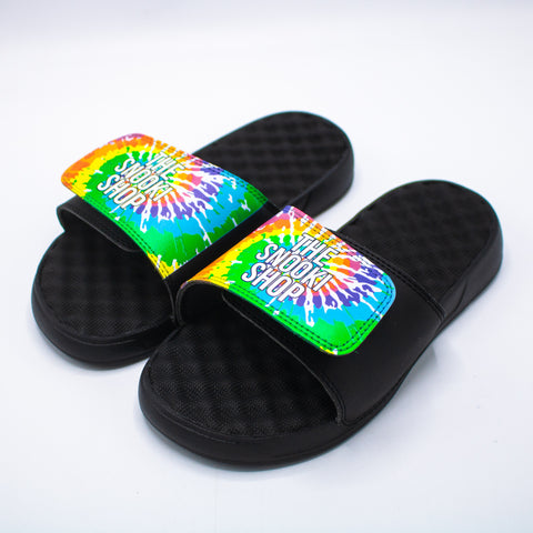 The Snooki Shop Sandals -White on Tie Dye