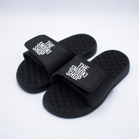 The Snooki Shop Sandals -White on Black