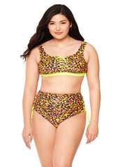 Sequin Queen Lace Up High-Waisted Bikini Bottom