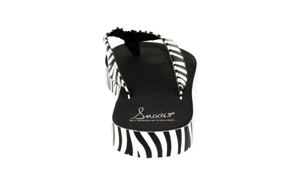 Snooki's Zebra Wrap Sandals
