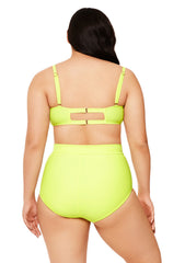 Yellow Multi-Way Twist Bikini Top