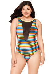 Striped Hottie One Piece Bathing Suit