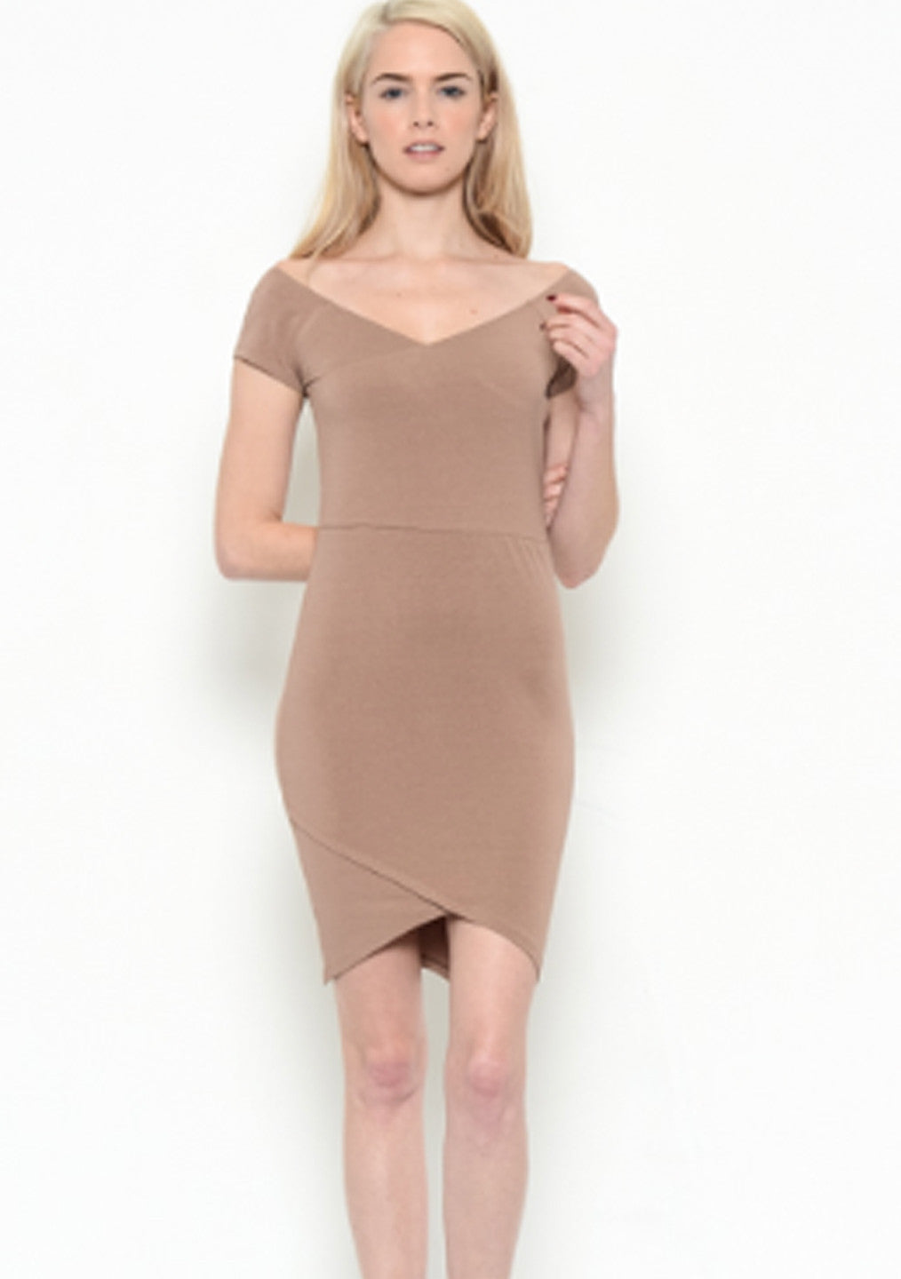 Taupe Cross Over Dress