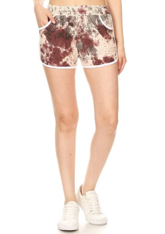 Tie Dye Mid-Rise Shorts
