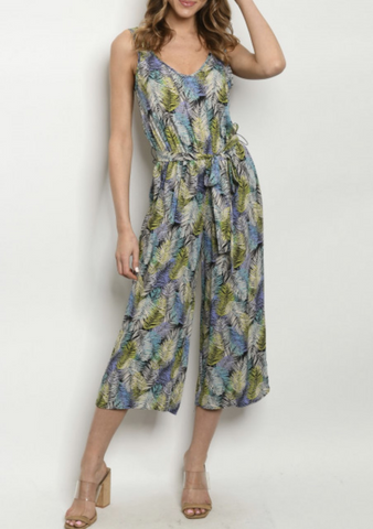 Tropical Capri Jumpsuit