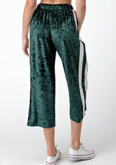 Green Velvet Capri Lounge Pants