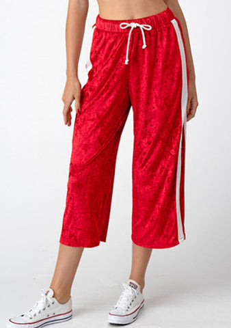 Red Velvet Capri Lounge Pants