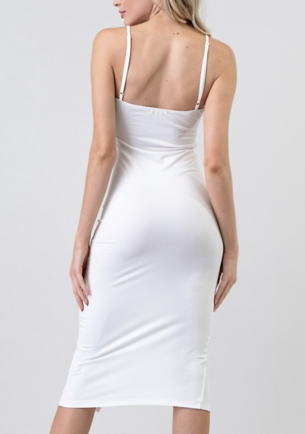 White Slit Dress
