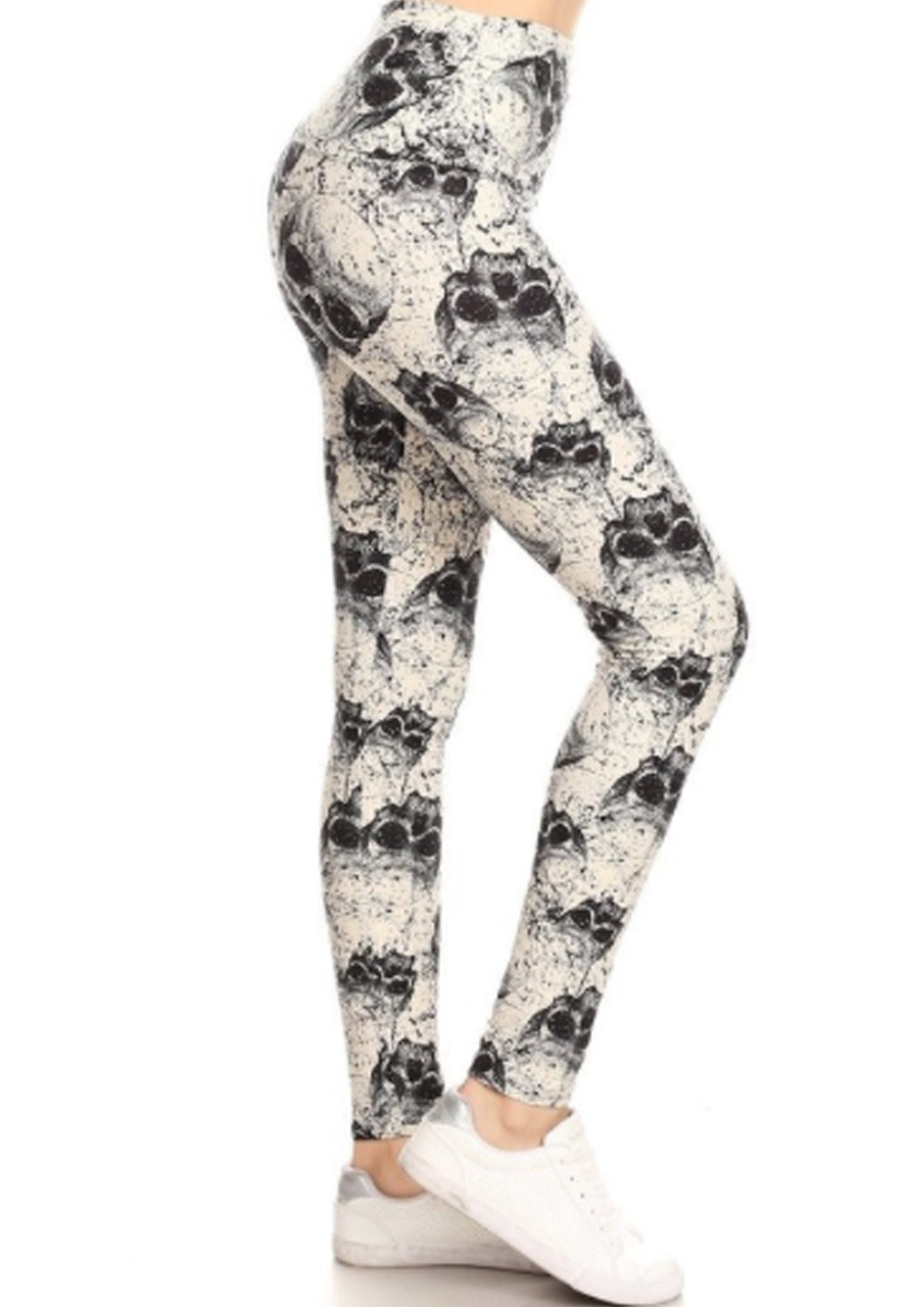 White Skull Leggings