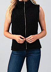 Zip Up Turtleneck Vest