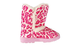 Pink Leopard Slipper Boot