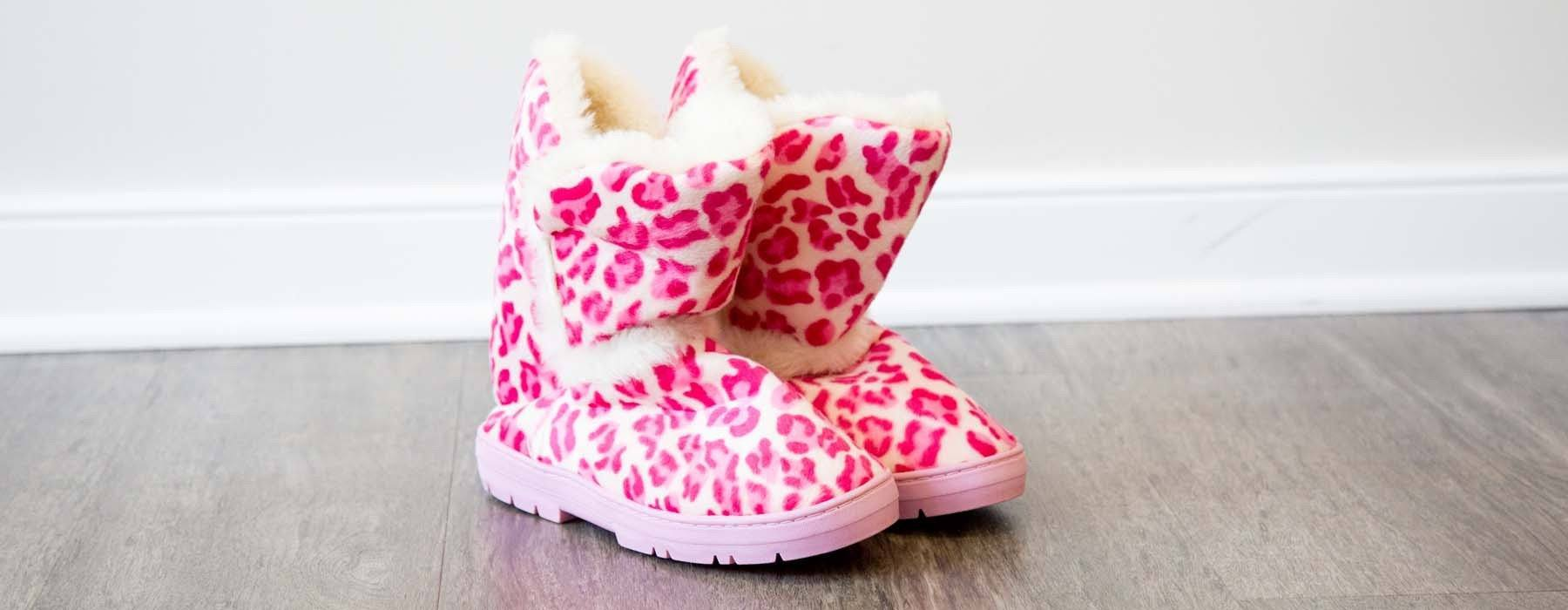 Snooki's Pink Leopard Slipper Boot