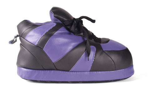 Purple and Black Imitation Leather