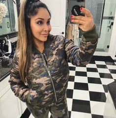 Camo Quilted Coat
