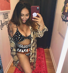 Leopard Polka Dot One Piece