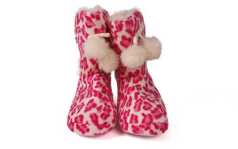 Pink Leopard Moccasin Boot