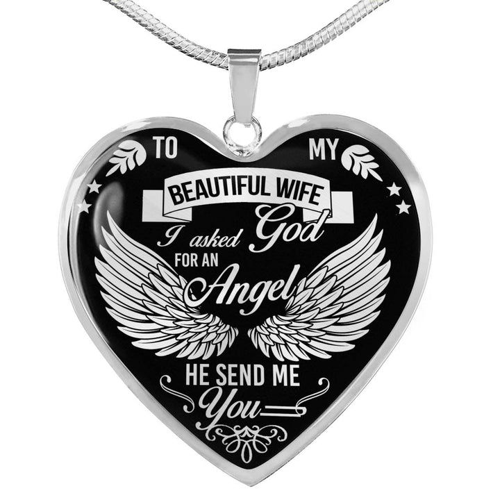 Luxury Necklace I Asked God For An Angel He Send Me You Shineon Com Check out our hei hei necklace selection for the very best in unique or custom, handmade pieces from our necklaces shops. usd