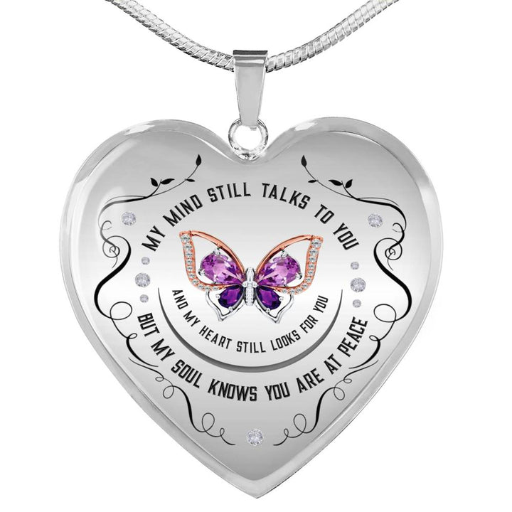 DesDirect Store Dragonfly My Mind Still Talks to You Necklace Circle Perfect Happy Gift