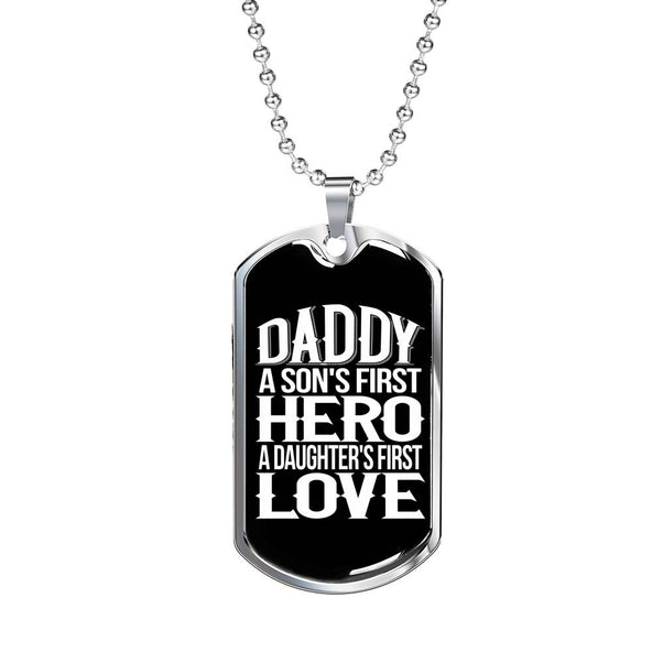 Collection Dad - Hero - Dog Tag Necklace