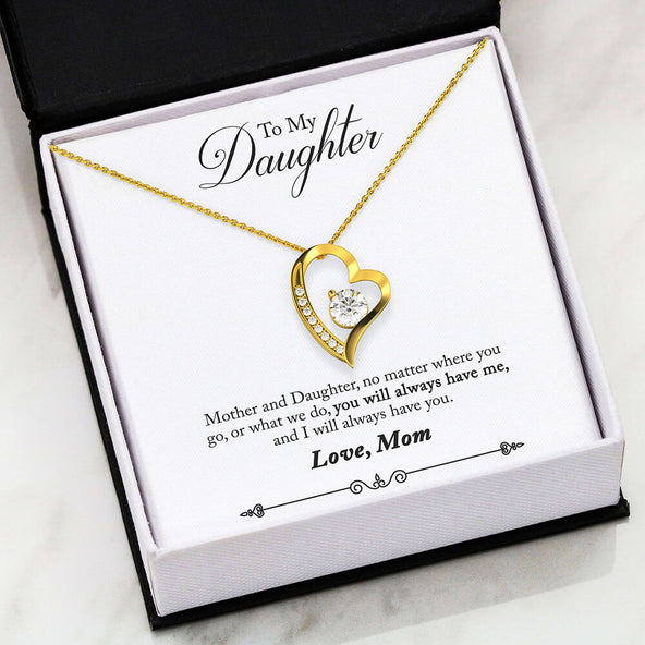 To My Daughter- Always Remember Forever Love Necklace