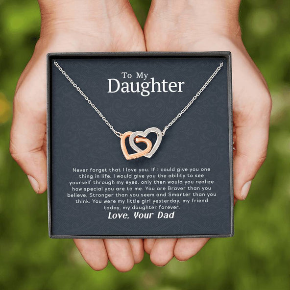 Collection Daughter - Never Forget That I Love You - Interlocking Hearts Necklace