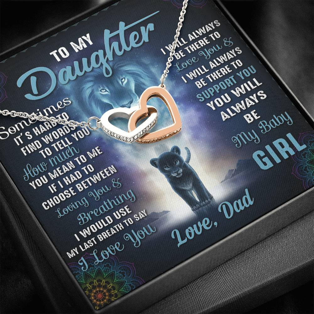 To My Daughter Necklace, You Will Always Be My Baby Girl, Daughter Gift From Dad, Daughters Birthday, Grown Up Daughter