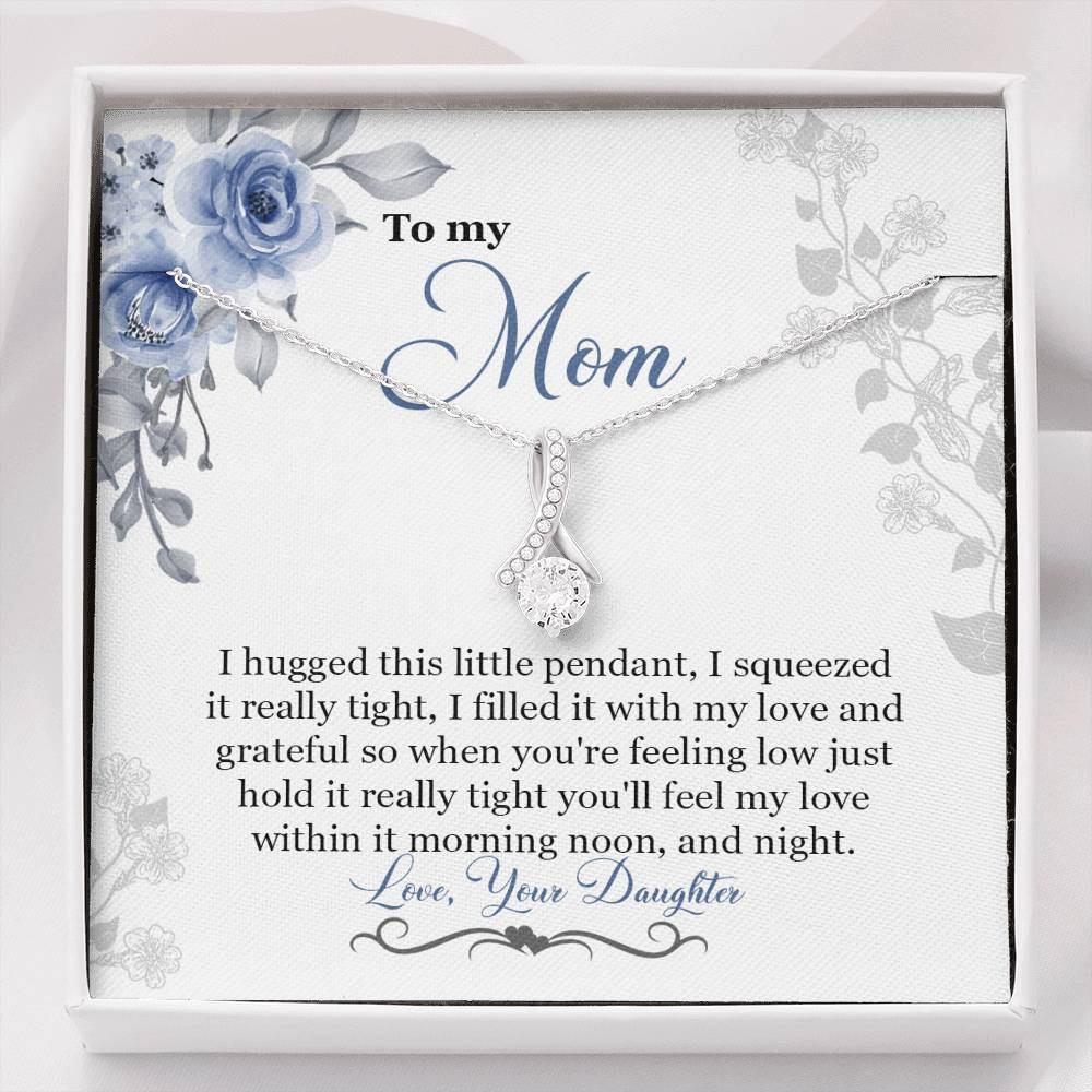 To My Mom Necklace, Mother's Day Jewelry, Gift For Mom On Mother's Day, Mother Daughter Necklace