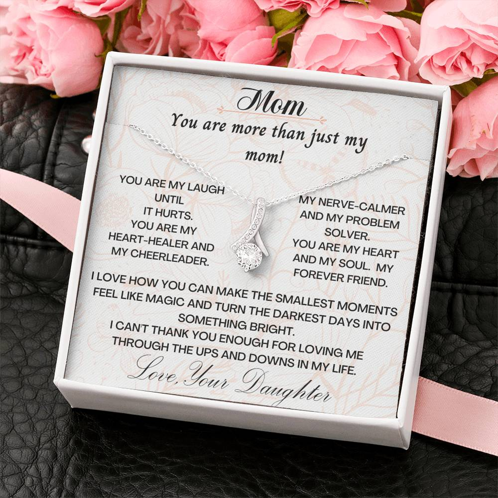 To My Mom Necklace, Mother's Day Necklace, Mother Jewelry, Gift For Mother From Daughter