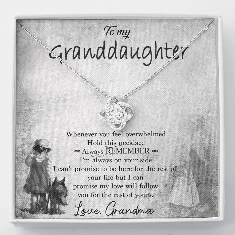 To My Granddaughter Necklace, Gift For Granddaughter, Granddaughter Necklace, Gift from Grandma