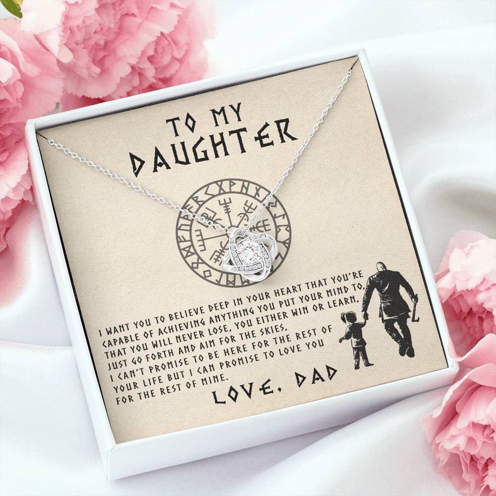 To My Daughter – Viking Daughter Necklace / Gift for Daughter / Birthday Gift / Jewerly for Daughter
