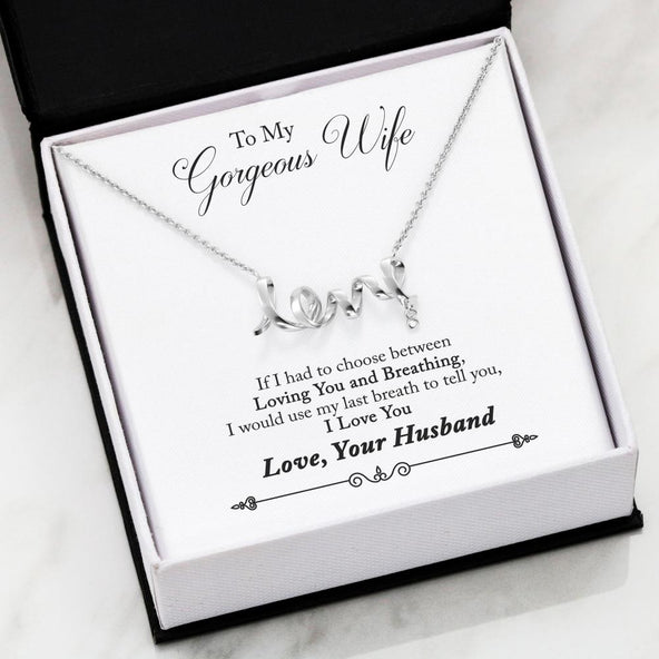 ***To My Wife - I Found My Missing Piece Scripted Love Necklace